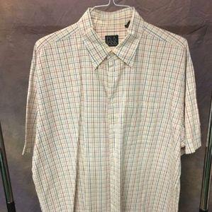 Joseph Banks Colorful Cotton Plaid Shirt -Men's XL